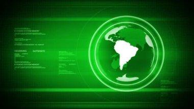 Digital world with Globe — Stock Video