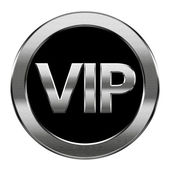 VIP icon silver, isolated on white background. — Stock Photo