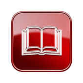 Book icon glossy red, isolated on white background — Foto de Stock
