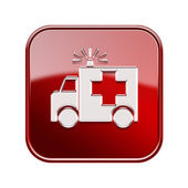 First aid icon glossy red, isolated on white background. — Stock Photo
