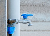 Frozen faucet in winter — Stock Photo