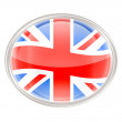 United Kingdom Flag Icon, isolated on white background — Stock Photo