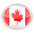 Canada Flag Icon, isolated on white background — Stock Photo
