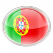 Portugal Flag Icon, isolated on white background. - ストック写真