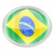 Brazil Flag Icon, isolated on white background. - ストック写真