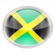 Jamaica Flag Icon, isolated on white background. - ストック写真