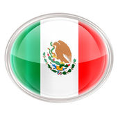 Mexico Flag Icon, isolated on white background. — Stock Photo