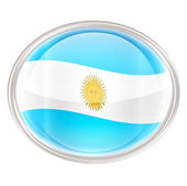 Argentina Flag icon, isolated on white background — Stock Photo
