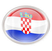 Croatia Flag Icon, isolated on white background. — Stock Photo