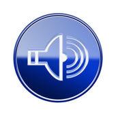 Bleu brillant orateur icône isolé sur fond blanc — Photo