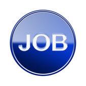 Job icon glossy blue, isolated on white background — Stock Photo