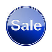 Sale icon glossy blue, isolated on white background — Stock Photo