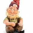 Sitting Gnome isolated with clipping path — Stock Photo #37750951