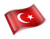Turkey Flag Icon — Stok fotoğraf