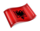 Icono de la bandera de albania — Foto de Stock