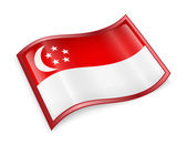 Singapore Flag Icon — Stock Photo