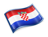 Croatia Flag Icon — Stock Photo
