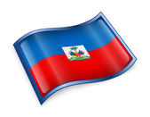 Haiti Flag Icon — Stock Photo