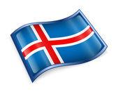 Iceland Flag icon, isolated on white background. — Stock Photo