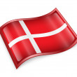 Danish Flag icon. — Stock Photo