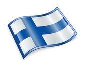 Finland Flag icon. — Stock Photo