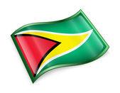 ícone de bandeira da guiana. — Fotografia Stock