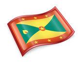 Grenada flag icon. — Stock Photo