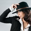 Beautiful woman in cowboy hat. — Stock Photo #7478332