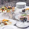 Catering food on table — Stock Photo