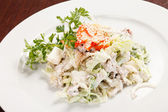 Salad with chicken and mushrooms — Stock Photo