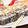 Sushi on the plate — Stock Photo