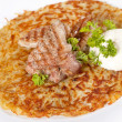 Stock Photo: Potato pancake with meat