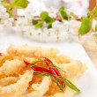 Fried Calamari Rings — Stock fotografie