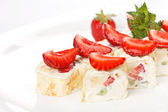 Sweet rolls with strawberry — Foto Stock