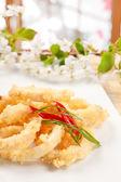 Fried Calamari Rings — Stock Photo