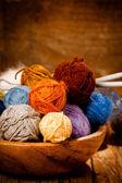 Lavoro a maglia di lana — Foto Stock