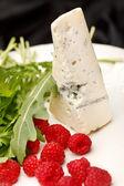 Sýr a malina — Stock fotografie
