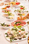 Alimentaire lors d'une fête de mariage — Photo