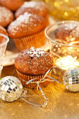 Christmas muffins — Stock Photo