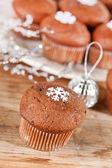 Bolinhos de chocolate — Fotografia Stock
