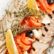 Fish delicacies on festive table — Stock Photo #13597826