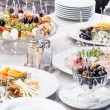 Stock Photo: Catering food on table