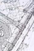 都市の古い計画 — ストック写真