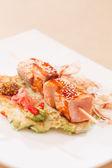Salmon kebab — Stock Photo