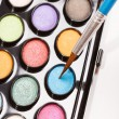 Stock Photo: Paints with brush