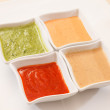 Different kind of sauces — Stock Photo