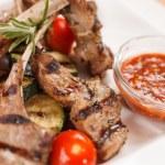 gegrild vlees ribben — Stockfoto