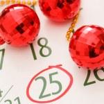 Christmas calendar page — Stock Photo