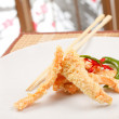 Salmon in tempura — Foto Stock