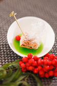 Grilled salmon with jelly — Stock Photo